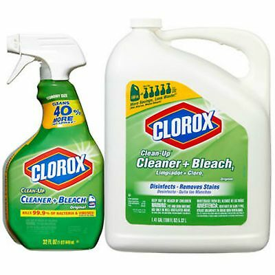 Clorox Clean Up Cleaner + Bleach 32 oz Spray with 180 oz Refill Bottle
