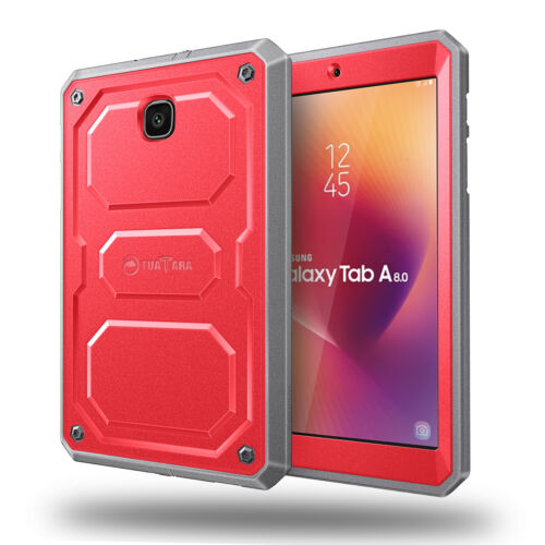 Dual Layer Case Cover w/Built-in Screen Protector For Samsung Galaxy Tab A 8.0