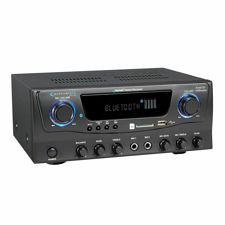 Technical Pro RXM7BT Bluetooth Stereo Audio Receiver AM/FM,