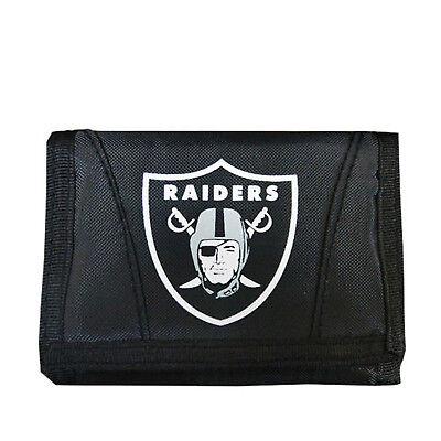 New Licensed Football Raiders Wallet Nylon Tri-Fold Chamber Wallet
