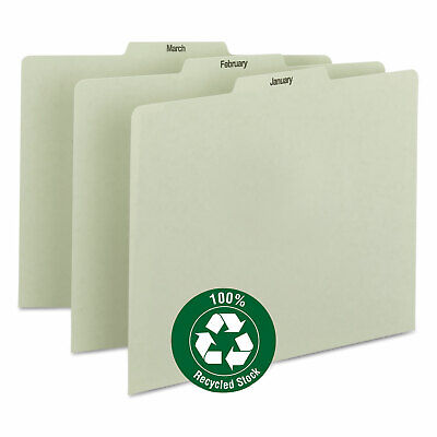 Smead Recycled Top Tab File Guides Monthly 13 Tab Pressboard Letter 12set