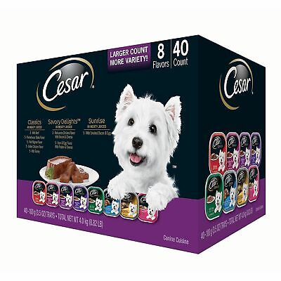 Cesar Canine Cuisine Wet Dog Food, Variety Pack 3.5 oz., 40 ct. *BEST