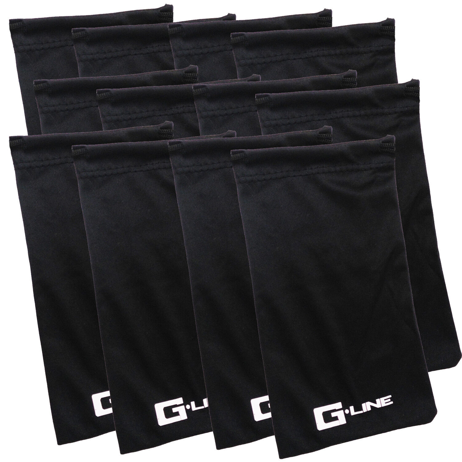 1 to 12 Pack Black Microfiber Pouch Bag Soft Cleaning Case S