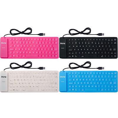 iHome Flexible Portable Travel USB Enabled Slim Flexible Keyboard