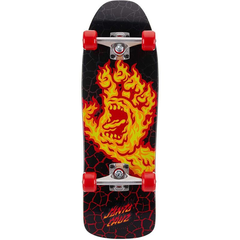 Santa Cruz Skateboard Complete Flame Hand 80