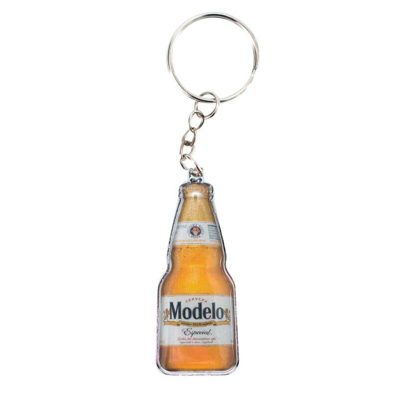Modelo Especial Beer Bottle Keychain Opener Beige