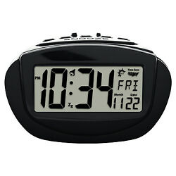 31022 Equity by La Crosse Battery Powered Insta-Set LCD Digital Alarm Clock