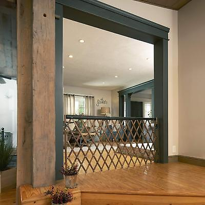 Expandable Wood Swing Gate In Door Baby Pet Safety Barrier Entry Way Farm House for sale  New York