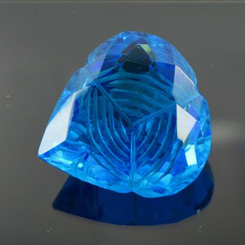 Pear Shape 90.31 ct EGL Certified Curving Blue Topaz Loose Gemstone