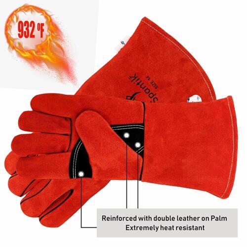 Welder Premium Buffalo Cowhide Leather Welding Gloves Heat Resistant Lined