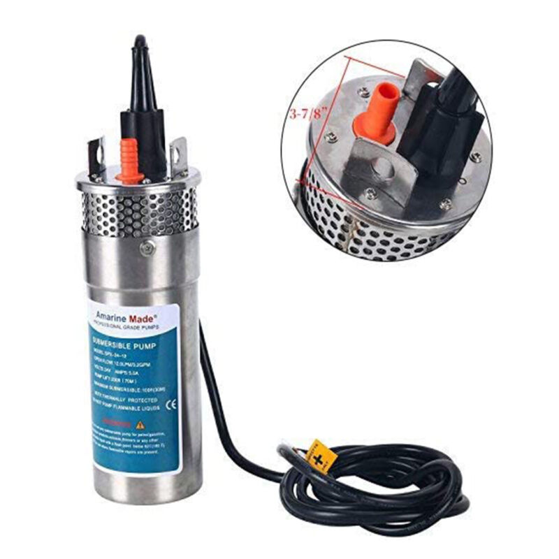 """24V Submersible 3.2 GPM 4"""" Deep Well Water Pump Alternative Energy Solar Battery"""