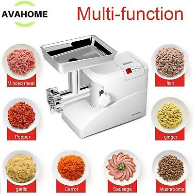 Heavy Duty Electric Meat Grinder Commercial Stainless Steel With 3 Blades 2000 W