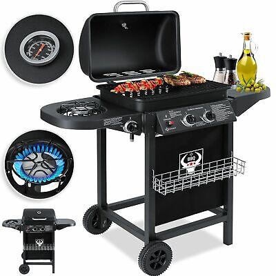 KESSER® Gasgrill Grillwagen Grillstation 2 Brenner 1 Seitenbrenner BBQ Grill
