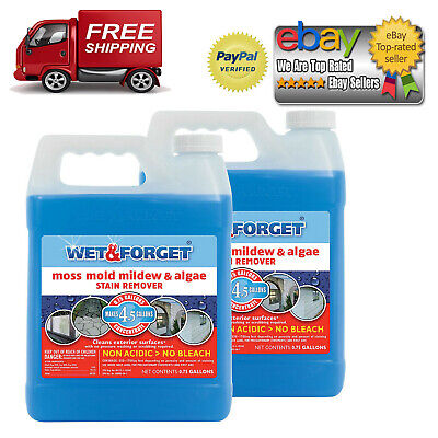 Wet & Forget Moss, Mold, Mildew, & Algae Stain Remover - .75 gal - 2