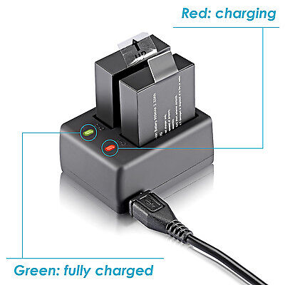 Neewer NW4000 USB Dual Battery Charger for SJ4000 SJ5000 SJ6000 SJ7000 Cameras