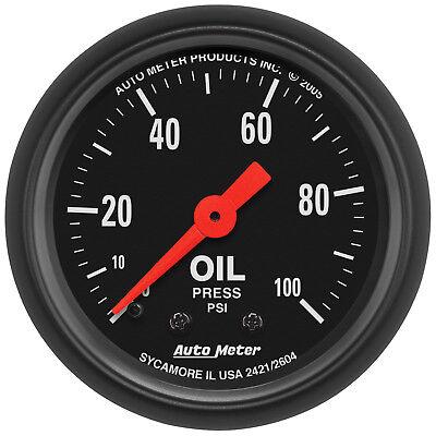 Autometer 2604 Z-Series Oil Pressure Gauge, 2-1/16 in., Mechanical