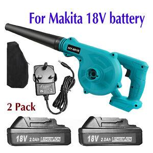 2x For Makita 18V 2.0Ah Li-Ion Battery 2 in 1 Cordless Leaf Dust Blower Vacuum