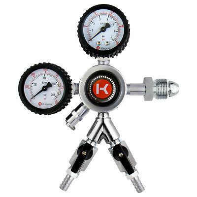 Kegco Hl-62n-2 Premium Commercial Grade Dual Gauge 2 Product Nitrogen Regulator