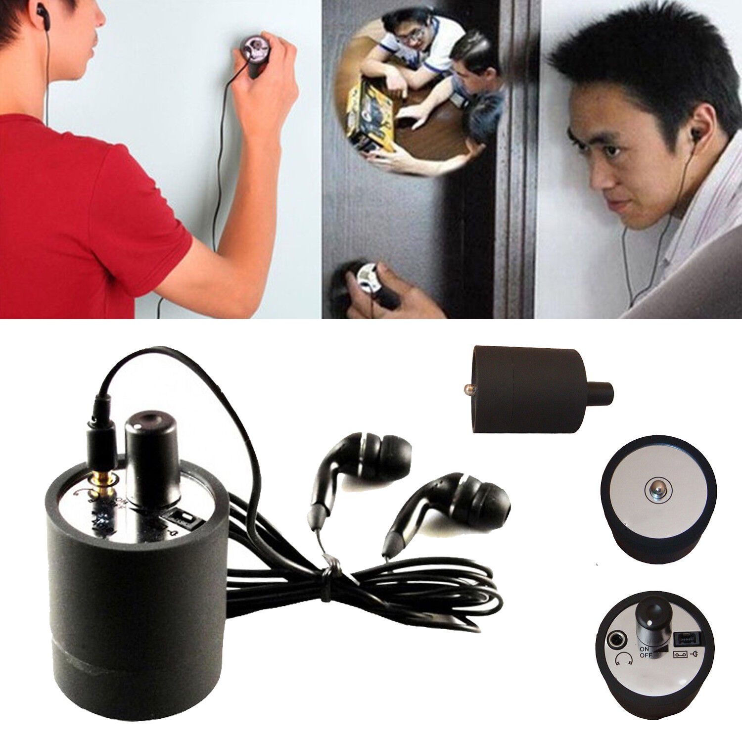 Ear Listen Through Wall Device SPY Monitor Bug Eavesdropping Microphone Voice