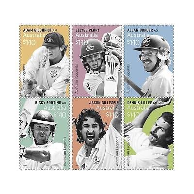 AUSTRALIE - Australian Legends of Cricket 2021 Stamps + FDC + Maxicards