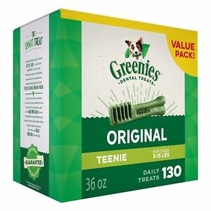 GREENIES Original TEENIE Dog Dental Chews - 36 Ounces 130 Treats