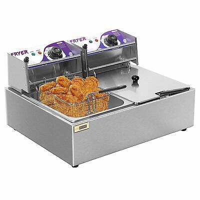 Vivohome 17.6 Qt Commercial Electric Countertop Deep Fryer Basket Restaurant