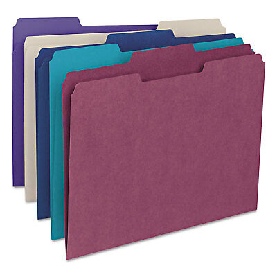 Smead File Folders 13 Cut Top Tab Letter Deep Assorted Colors 100box 11948