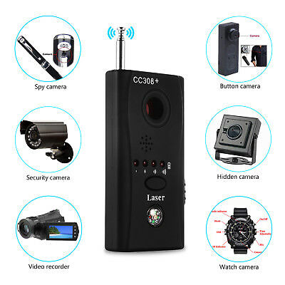 (Anti Spy Hidden Camera Lens Bug Detector GSM GPS Signal Finder RF Tracker Audio)