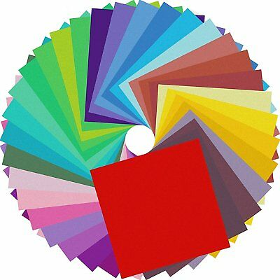 Origami Paper Double Sided Colored Papers 6 inch Square Sheets - 20 Vivid Colors