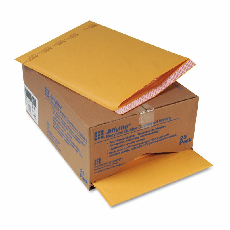 Sealed Air Jiffylite Self-Seal Mailer Side Seam #7 14 1/4 x 20 Golden Brown 25