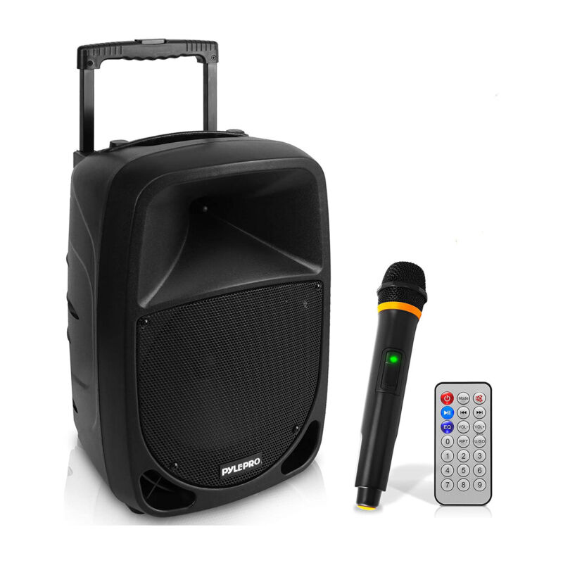 Pyle PSBT105A Bluetooth Portable Karaoke Speaker with Wireless Microphone (Used)