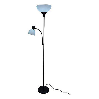 Combo Floor Lamp 72'' Faint Office Modern Home Room Decor Black Lighting Body