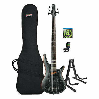SR Standard 5-String Electric Bass with Gator Gigbag, Strings, Tuner & Stand