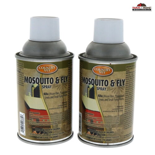 (2) Mosquito Gnat Fly Metered Spray Refill ~ New