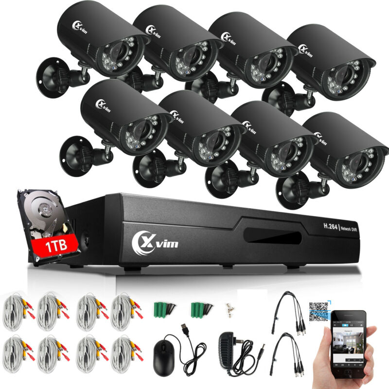 XVIM 8CH 1080N Outdoor Night Vision Home Security Camera ...