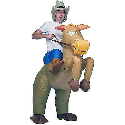 Horse Rider Halloween Costume (Brown Cowboy Rider Horse Funny Inflatable Costume Halloween Carnival For)