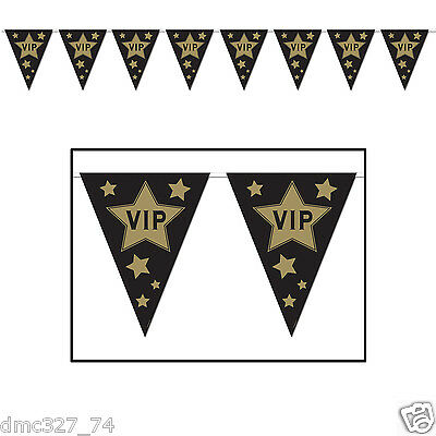 1 HOLLYWOOD Movie Night Awards Party Decoration VIP Pennant FLAG BANNER](Awards Night Decorations)