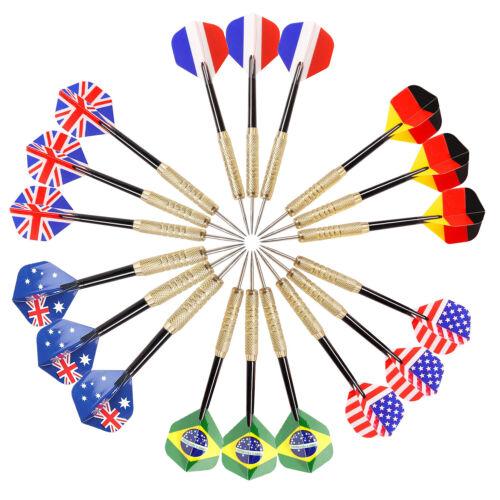 18 PCS Tungsten Darts Set, Steel Tip+Shafts+Flights+Barrel Professional Darts US