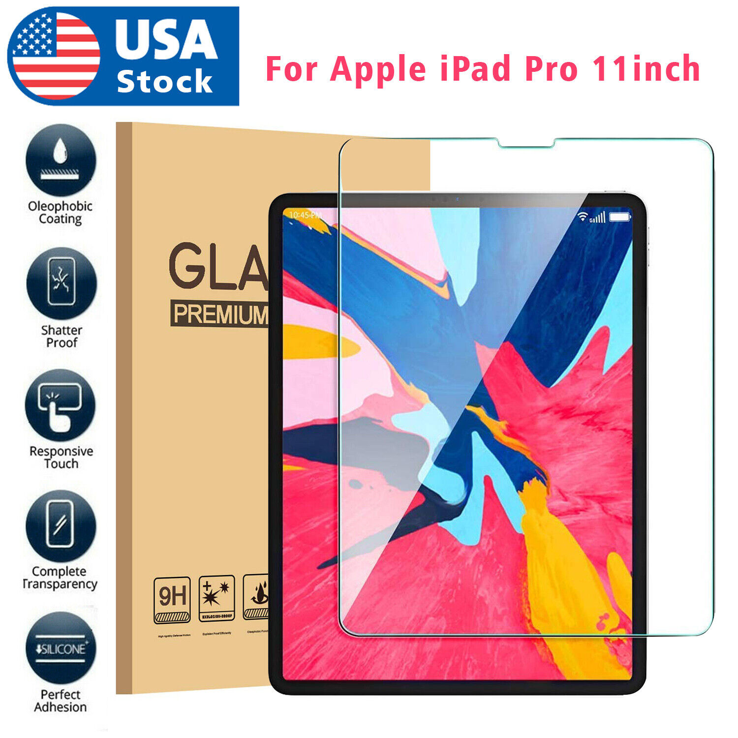 Premium Screen Protector for Apple iPad Pro 11-Inch 2018 Tempered Glass Film US Computers/Tablets & Networking