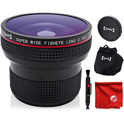 Opteka 0.20X Professional HD Super AF Wide Angle Fisheye Len