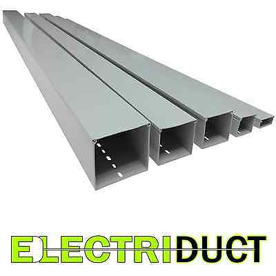 2 X 1 Solid Wall Wire Duct - 6 Sticks - Total Feet 39ft - Gray - Electriduct