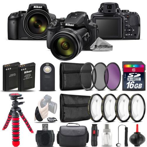 Nikon COOLPIX P900 Digital Camera + Spider Tripod + EXT BAT