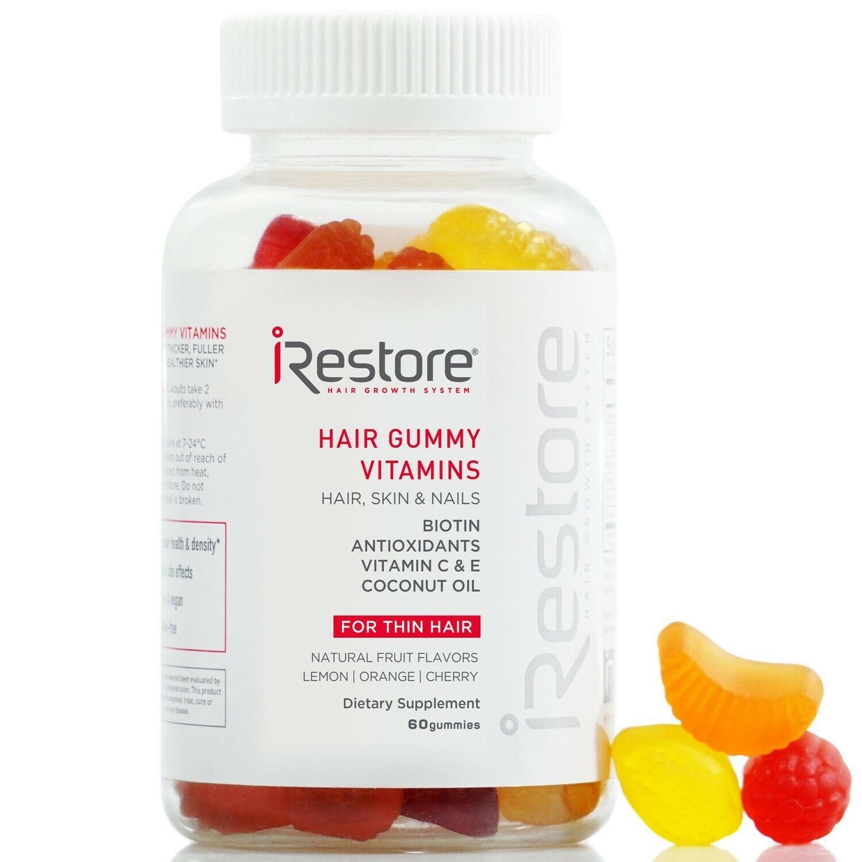 iRestore Vitamins Hair Gummies - Vegan Biotin Gummies for Hair Growth Hair Skin