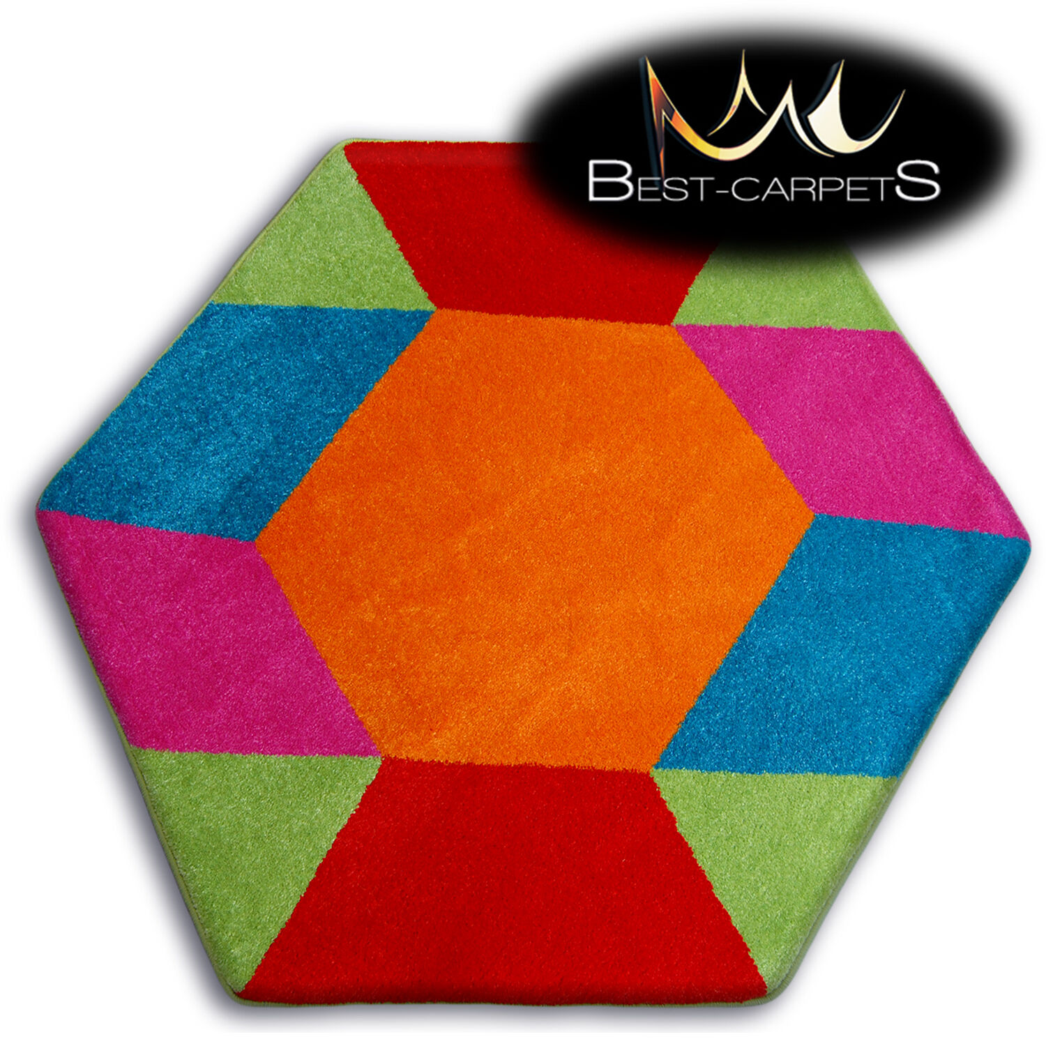 Thick MODERN RUGS 'PAINT' CARPETS ORIGINAL COLORFUL Blue Che