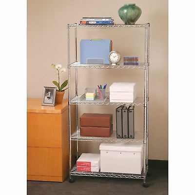 35 Tier Level Shelf Adjustable Wire Metal Commercial Shelving Rack Wrolling