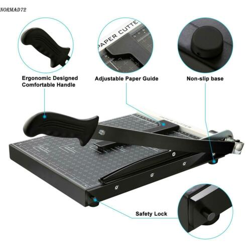"""18"""" Paper Cutter A4 To B7 Metal Base Guillotine Page Trimmer Blade Scrap Booking"""