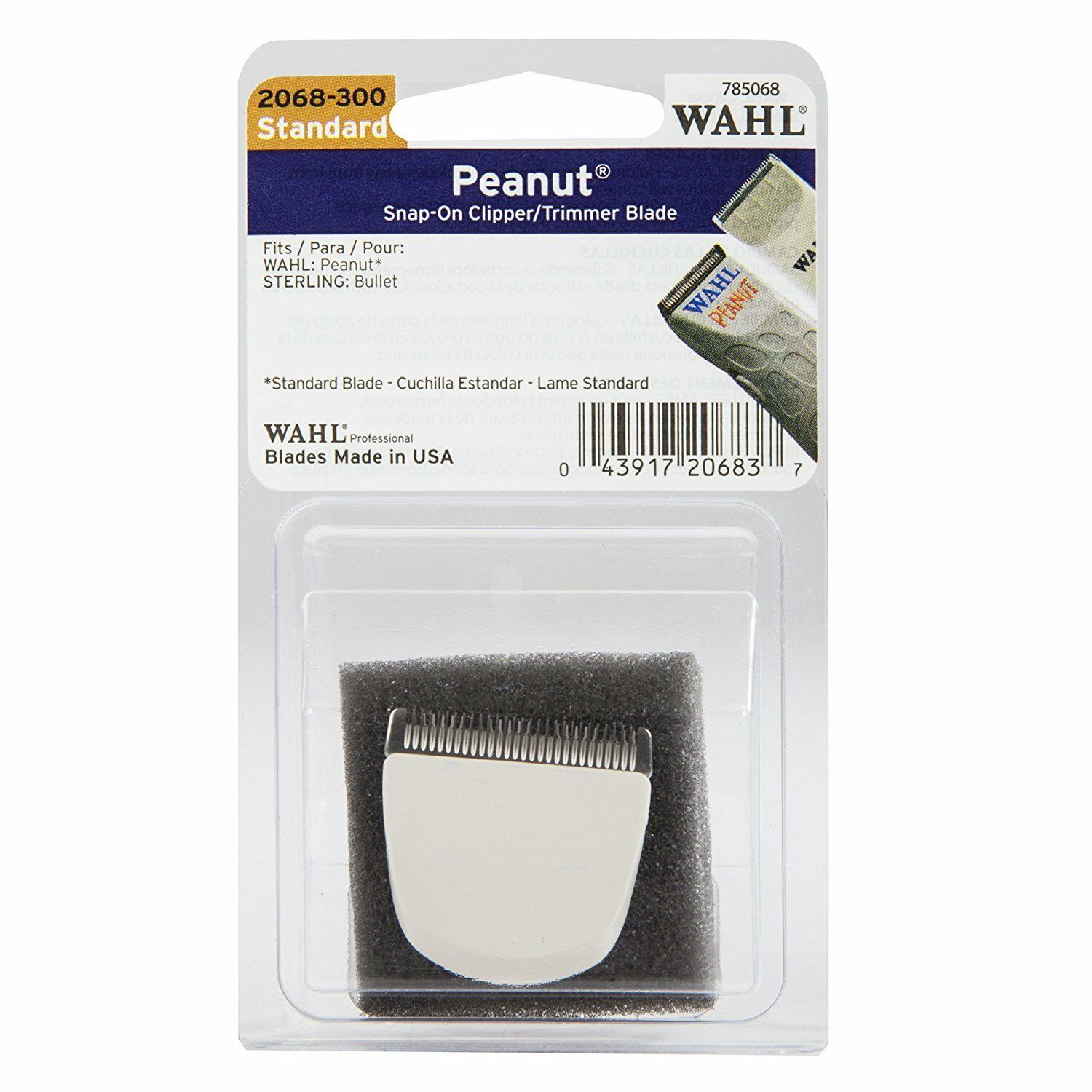 Wahl White Peanut Trimmer Snap On Replacement Blade #2068-