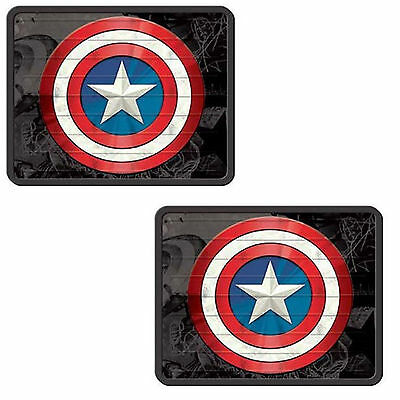 Marvel Comics Captain America Rear Utility Floor Mats Size 17'' x 14''- Set of 2