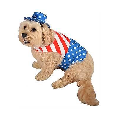 Patriotic PET DOG Costume USA Flag STAR STRIPES Red White Blue - Medium](Usa Flag Costume)