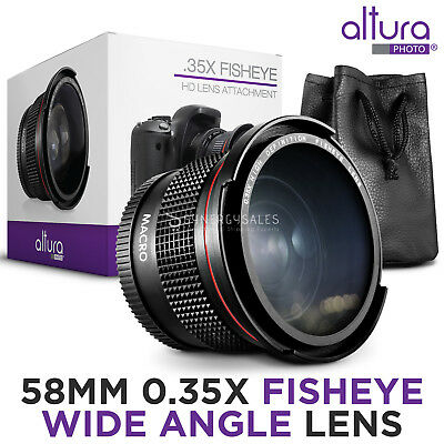 Altura Photo® 58MM 0.35x Fisheye Wide Angle Lens for Canon T6i T5i T5 T4i T3i T3